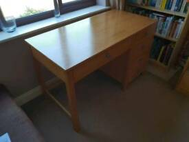 Solid oak desk / table