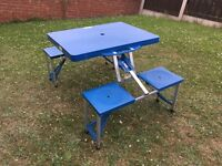 Picnic / camping Table. 4 Seat. Fold Up. Good Condition