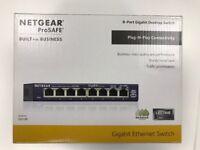 NETGEAR GS108UK 8-Port Gigabit Ethernet Unmanaged Switch