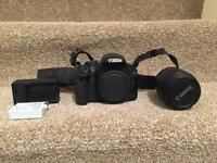 Canon EOS 550d and lens