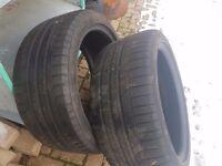 Pair of 5mm 255 40 19 Tyres Goodyear Eagle F1 TOP RATED Premium TYRE BMW Audi Jaguar Mercedes