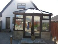 Conservatory, 5meters long and 3 meters wide, with furniture, and all window blinds.