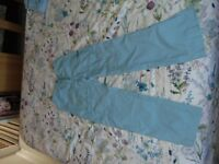 Girls blue ski trousers, suit 12 year old