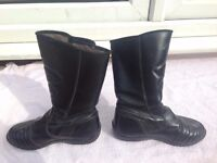 prexport ladies motorcycle boots size 4 1/2