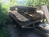 18ft flat bed beaver tail trailer