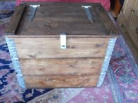 UPCYCLED WOODEN BLANKET BOX - CHEST - STORAGE - TRUNK