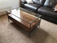 Mackay Coffee Table, Mango Wood & Charcoal RRP £449