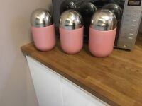 3 kitchen storage jars kitchen canisters tea coffee sugar Retro American / Americana diner kitchen