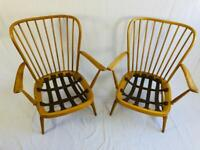 Pair of Ercol 477 arm chairs