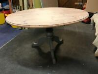 Refurbished Solid Pine Oval Dining Table