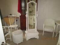 SOLID PINE DRESSING MIRROR PAINTED LAUSA ASHLEY COUNTRY WHITE