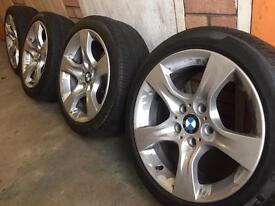 Genuine BMW 3 series (E90) set of 4 Alloys + run flat tyres