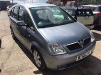 Vauxhall Meriva 1.4 i 16v Breeze 5dr£1,490 p/x welcome NEW MOT. GOOD RUNNER