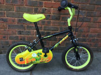 """Details about Apollo Claws Kids Bike Childrens 14"""" inch wheels boys green bicycle steel frame"""