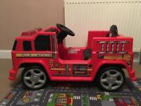 Electric / Battery Powered Ride On Fire Engine
