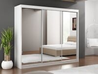 🎆💖🎆LIMITED STOCK OFFER🎆💖🎆250 CM WIDE WARDROBE IN BLACK WHITE OR GREY