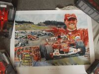 Limited Edition Michael Schumacher Print by Chris Myers. F1. Motorsport - Hounslow TW3
