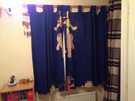 Next monster blackout curtains 54 inch drop