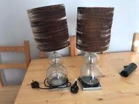 OKA used table / bedside lamps