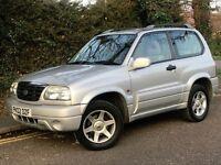 2002 SUZUKI GRAND VITARA SE, 3 DOORS, 1.6 ENGINE, BRAND NEW MOT.