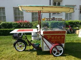 Food trike w integrated fridge, hob for sale