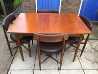 Mid Century TEAK DINING TABLE and CHAIRS, G Plan, FRESCO range DANISH style