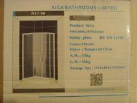 Quadrant Double Sliding Shower Doors Enclosure