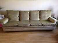 Free 3 piece sofa suite 4 seater sofa, 2 chairs