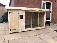 Brand new extra large fully treated Dog kennel and run