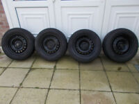 205/65/ R15=VW T4 steel wheels and tyres