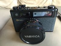 Yashica Electro 35 GT 35mm Film Camera 45mm F/1.7 Lens and black case