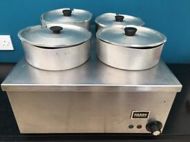 Parry dry well heat bain marie commercial resturant catering industrial food warmer heater