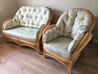 Conservatory furniture - two 02-seater sofas and two armchairs