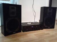 DENON AMP / AIWA SPEAKERS