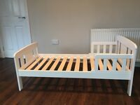 White John Lewis Junior bed and mattress for sale