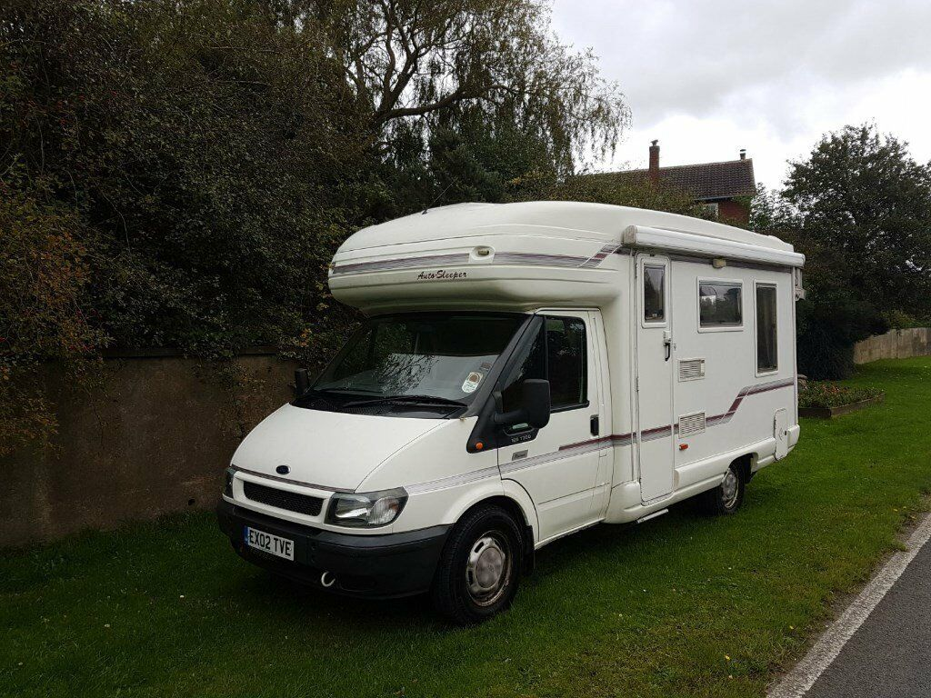 Autosleeper ravenna 4 berth motorhome 2002 ford transit 1 owner from new 60k miles 2 4 td