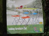 Camping or picnic table and stools