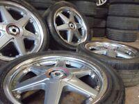 17inch genuine lenzo Alloys Wheels bmw z3 z4 1 3 Series Vw T5 Vauxhall Vivaro traffic 5x120