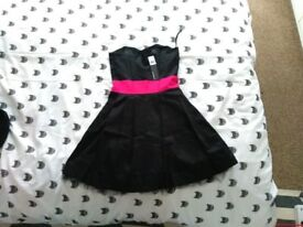 BNWT black and fuchsia short prom / cocktail dress, size 8 - 10