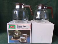 TWO NEW MELITTA GLASS COFFEE/TEA JUGS