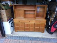 'Nathan' sideboard and chest and Ercol drop-leaf table.