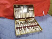 Wiltshire Canteen of Cutlery Silver Plated Rose Pattern 24 piece