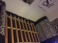 zebra bed frame