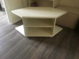 Off White/cream painted Tv stand corner unit