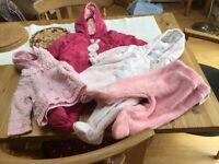 Baby girl coat bundle , 0 to 3 months