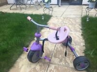 Pink and purple girls trike