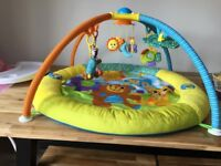 Play mat musical plus spinning animals £15