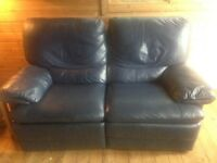 LAZY BOY 2 SEATER LEATHER RECLINER