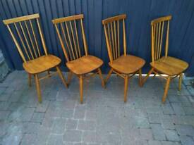 Vintage Retro Mid Cetury 4 Ercol All Purpose High Back Dining Chairs