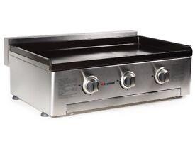 BBQ Stainless steel 3 burner gas plancha